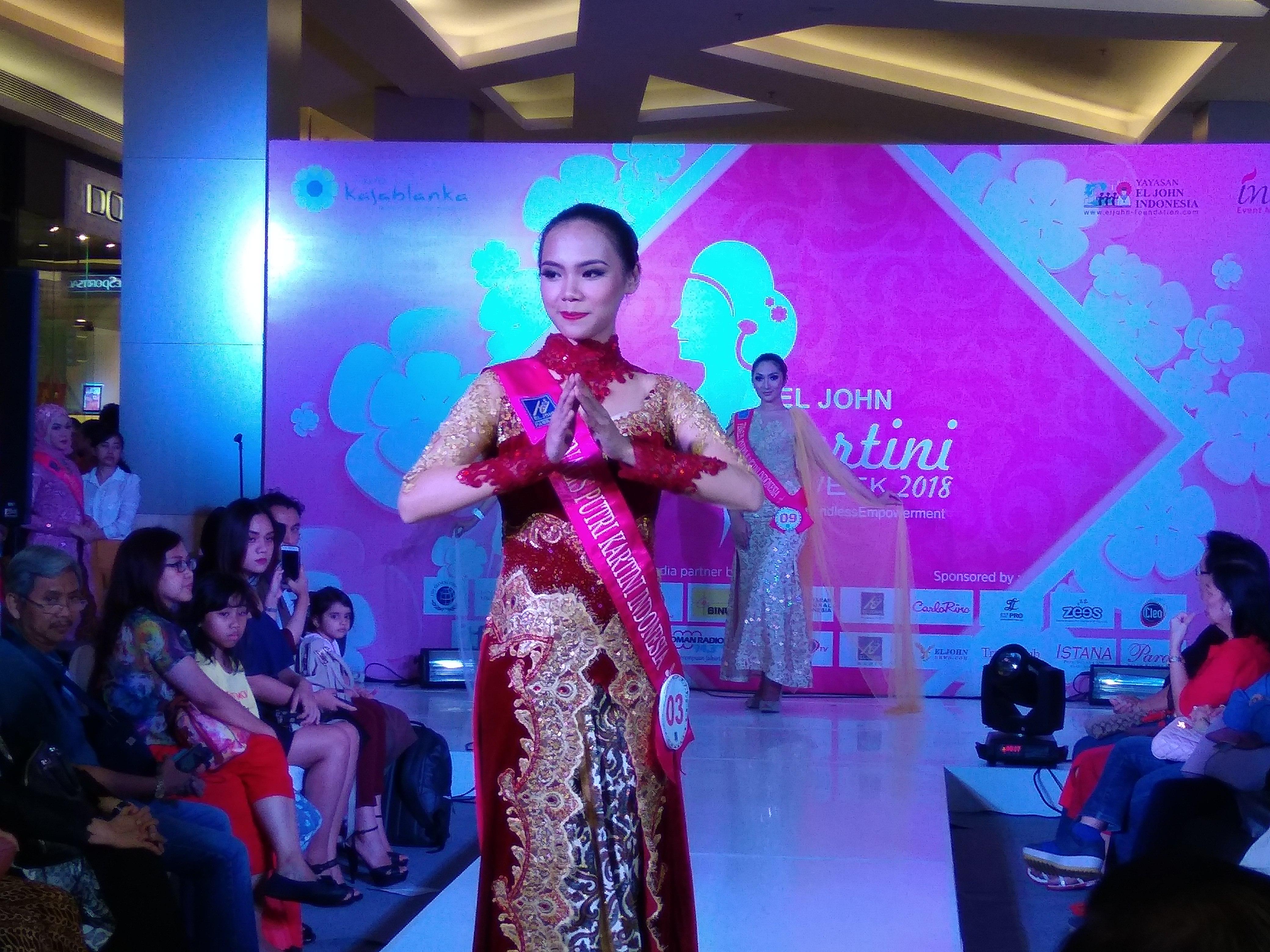 Anggunnya Finalis Putri Kartini Indonesia 2018 Dalam Balutan Kebaya
